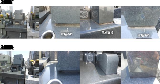 水垢汚れ・目地破損のメンテナンス事例(1.35㎡区画)